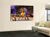 Sacramento Kings v Los Angeles Lakers: Kobe Bryant and Tyreke Evans Prints by Noah Graham