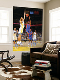 Detroit Pistons v Golden State Warriors: Andris Biedrins and Richard Hamilton Prints by Rocky Widner