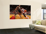Indiana Pacers v Miami Heat: Dwyane Wade and Brandon Rush Print by Victor Baldizon