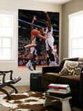 Utah Jazz v Los Angeles Clippers: Deron Williams, Al-Farouq Aminu and DeAndre Jordan Poster by Noah Graham