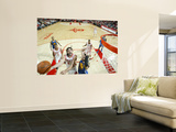 Golden State Warriors v Houston Rockets: Luis Scola and Vladimir Radmanovic Prints by Bill Baptist