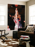Atlanta Hawks v New York Knicks: TImofey Mozgov and Al Horford Print by Jeyhoun Allebaugh