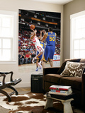 Golden State Warriors v Houston Rockets: Kevin Martin and Dan Gadzuric Prints by Bill Baptist