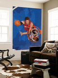 New Jersey Nets v Los Angeles Clippers: Brook Lopez and Rasual Butler Print by Noah Graham