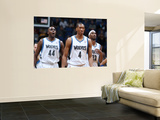 Golden State Warriors v Minnesota Timberwolves: Anthony Tolliver, Wesley Johnson and Corey Brewer Posters by David Sherman