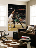 Boston Celtics v Cleveland Cavaliers: Kevin Garnett and Ryan Hollins Print by David Liam Kyle