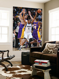 Los Angeles Lakers v Minnesota Timberwolves: Wesley Johnson, Pau Gasol and Kobe Bryant Prints by David Sherman
