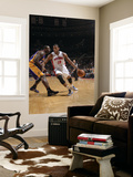 Los Angeles Lakers v Detroit Pistons: Greg Monroe and Derrick Caracter Prints by Allen Einstein