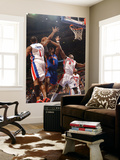 New York Knicks v Detroit Pistons: Amar'e Stoudemire, Tracy McGrady and Ben Wallace Prints by Allen Einstein