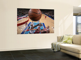 Chicago Bulls v Dallas Mavericks: Joakim Noah and Brendan Haywood Print by Glenn James