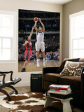 New Jersey Nets v Dallas Mavericks: Dirk Nowitzki and Jordan Farmar Posters by Glenn James