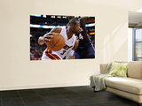 Atlanta Hawks v Miami Heat: Dwyane Wade and Marvin Williams Print by NBA Photos