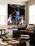 New Orleans Hornets v Sacramento Kings: DJ Mbenga Art by Rocky Widner