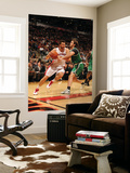 Boston Celtics v Toronto Raptors: Andrea Bargnani and Semih Erden Prints by Ron Turenne