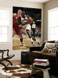 Philadelphia 76ers v Cleveland Cavaliers: J.J. Hickson and Darius Songaila Print by David Liam Kyle