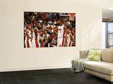 Washington Wizards v Miami Heat: Dwyane Wade and Chris Bosh Prints by Issac Baldizon