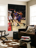 New York Knicks v Toronto Raptors: Landry Fields and Amir Johnson Prints by Ron Turenne