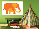 Orange Elephants Posters par  Avalisa