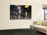 Los Angeles Lakers v Memphis Grizzlies: Kobe Bryant and Hasheem Thabeet Print by Joe Murphy