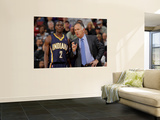 Indiana Pacers v Sacramento Kings: Jim O'Brien and Darren Collison Posters by Rocky Widner