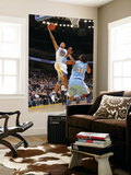 Denver Nuggets v Golden State Warriors: Monta Ellis and Nene Poster by Rocky Widner