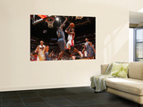 Charlotte Bobcats v Miami Heat: Chris Bosh and Nazr Mohammed Posters by Victor Baldizon