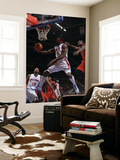 Toronto Raptors v Detroit Pistons: Ben Wallace and Ed Davis Print by Allen Einstein