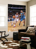 New Orleans Hornets v Philadelphia 76ers: Lou Williams and Jarrett Jack Print by David Dow