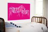 Pink Zebra Art by  Avalisa