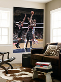 Portland Trail Blazers v New Jersey Nets: Damion James, Dante Cunningham and Wesley Matthews Prints by David Dow