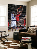 Chicago Bulls v Dallas Mavericks: Joakim Noah and Brendan Haywood Prints by Glenn James