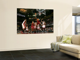 Miami Heat v Cleveland Cavaliers: Jawad Williams and Erick Dampier Prints by David Liam Kyle