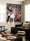 Portland Trail Blazers v Dallas Mavericks - Game OneDallas, TX - APRIL 16: Dirk Nowitzki and LaMarc Prints by Glenn James