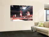 Atlanta Hawks v Chicago Bulls - Game Five, Chicago, IL - MAY 10: Josh Smith and Luol Deng Poster by Scott Cunningham