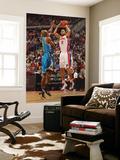 New Orleans Hornets v Detroit Pistons: Tayshaun Prince and Jarrett Jack Plakater af Allen Einstein