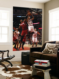 Miami Heat v Chicago Bulls - Game Two, Chicago, IL - MAY 18: Derrick Rose and Chris Bosh Poster by Jonathan Daniel