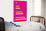Pink Counting Apples Poster por  Avalisa