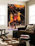 Chicago Bulls v Los Angeles Lakers: Luol Deng, Derrick Caracter and Matt Barnes Print by Andrew Bernstein
