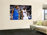 Dallas Mavericks v Miami Heat - Game Six, Miami, FL - June 12: LeBron James and Dirk Nowitzki Prints by Garrett Ellwood