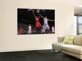 Toronto Raptors v Detroit Pistons: Leandro Barbosa and Charlie Villanueva Poster by Allen Einstein