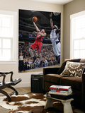 New Jersey Nets v Dallas Mavericks: Jordan Farmar and Brendan Haywood Poster by Glenn James