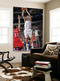 Portland Trail Blazers v Dallas Mavericks: Dirk Nowitzki and Nicolas Batum Prints by Glenn James