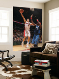 Washington Wizards v Toronto Raptors: Jose Calderon and Andray Blatche Print by Ron Turenne