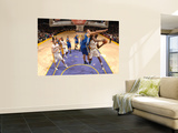 Golden State Warriors v Los Angeles Lakers: Lamar Odom and Andris Biedrins Prints by Noah Graham