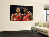 Portland Trail Blazers v Phoenix Suns: Andre Miller and Wesley Matthews Print by  Christian