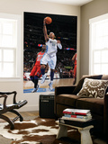 New Jersey Nets v Denver Nuggets: Carmelo Anthony and Johan Petro Art by Garrett Ellwood