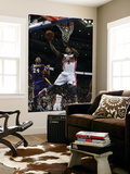 Los Angeles Lakers v Detroit Pistons: Rodney Stuckey and Kobe Bryant Poster by Allen Einstein