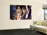 Minnesota Timberwolves v Phoenix Suns: Luke Ridnour and Steve Nash Print by Christian Petersen