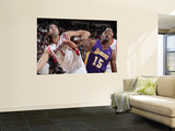 Los Angeles Lakers v Houston Rockets: Ron Artest and Luis Scola Prints by Bill Baptist