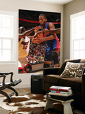 Detroit Pistons v Miami Heat: Greg Monroe and Joel Anthony Prints by Victor Baldizon